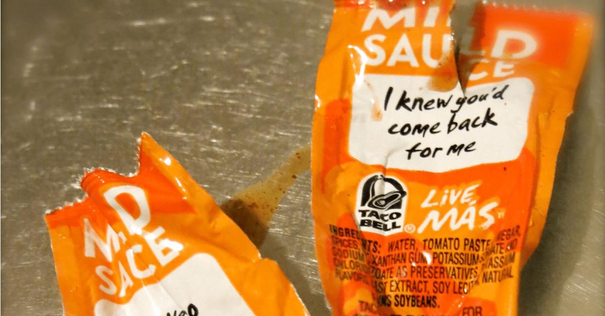 Taco Bell Shooting Hot Sauce