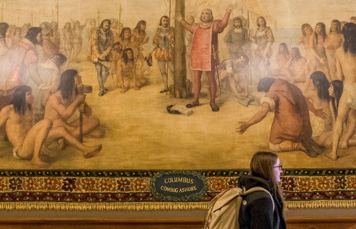 Notre Dame to Cover Up Murals Depicting Christopher Columbus After Backlash