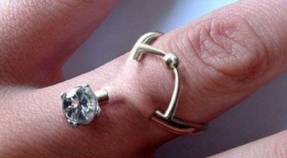 engagement ring piercing