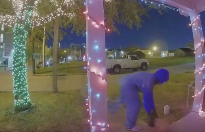 Man Hilariously Frightens Package Thief Off With Booby Trap
