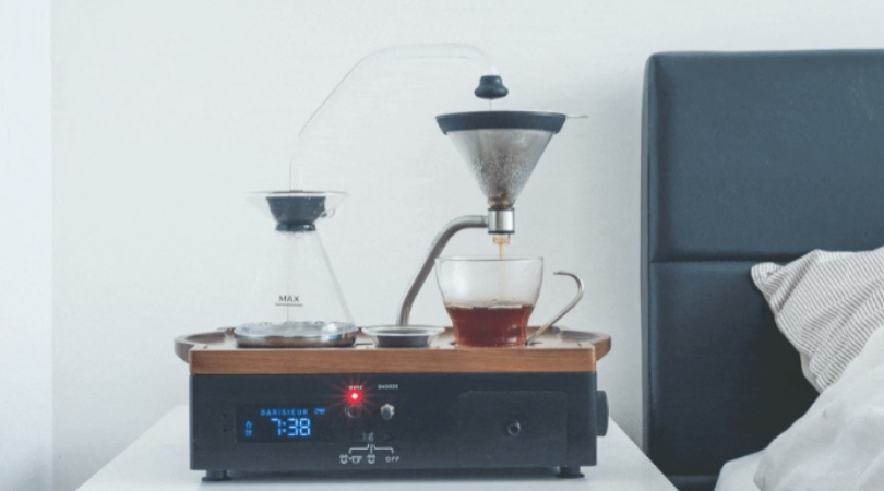 This Alarm Clock Wakes You Up With The Smell of Coffee, and We Can't Wait To Go To Sleep