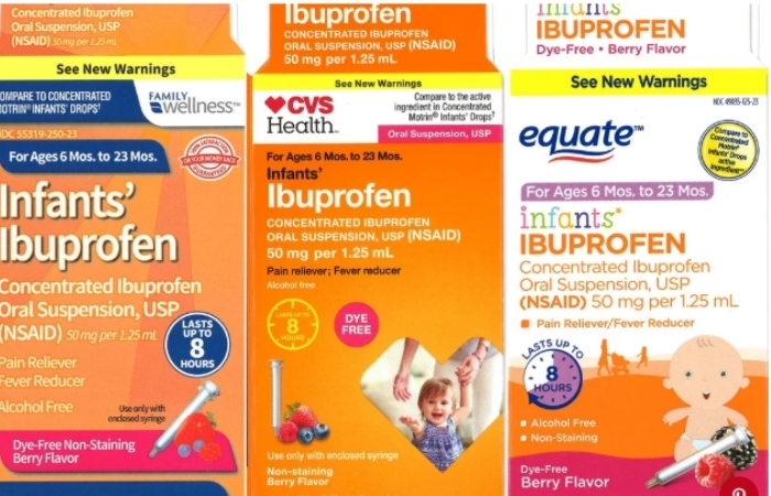 Recall Alert: Ibuprofen Sold at Walmart and CVS Could Result In Severe Vomiting and Bleeding