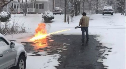 flamethrower snow