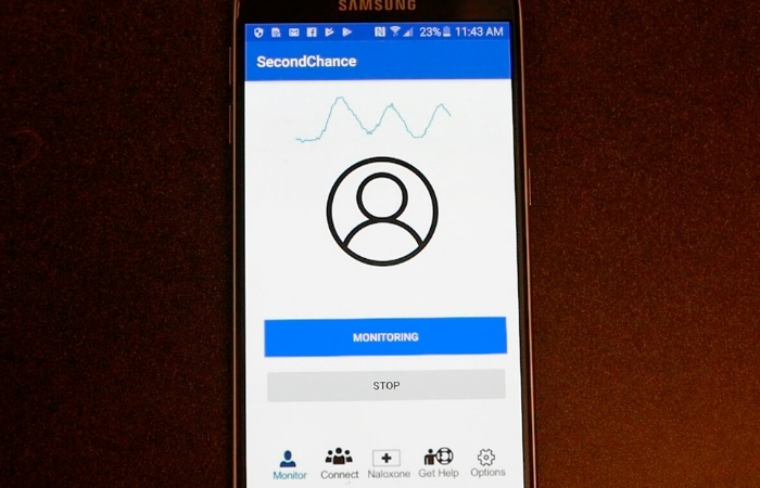 """Second Chance"" Experimental App Might Spot Opioid Overdoses In Time To Help"