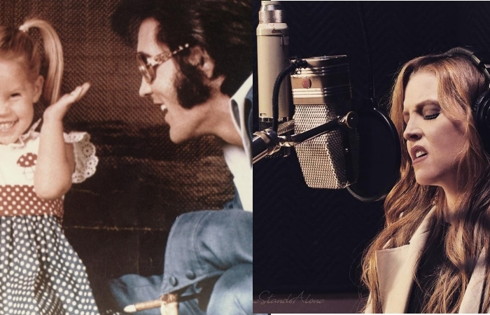 "Lisa Marie Presley Sings ""Daddy Don't Cry"" With Elvis as Tribute"