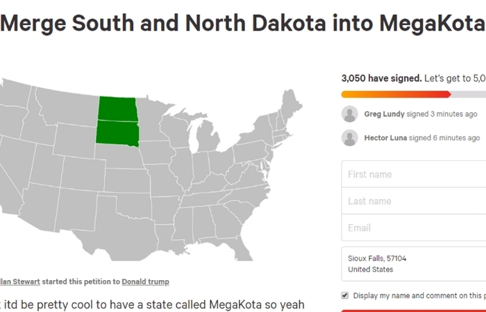 MegaKota? Petition Proposes Merging North and South Dakota Into 'MegaKota'
