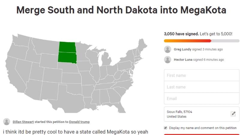 MegaKota? Petition Proposes Merging North and South Dakota Into 'MegaKota'