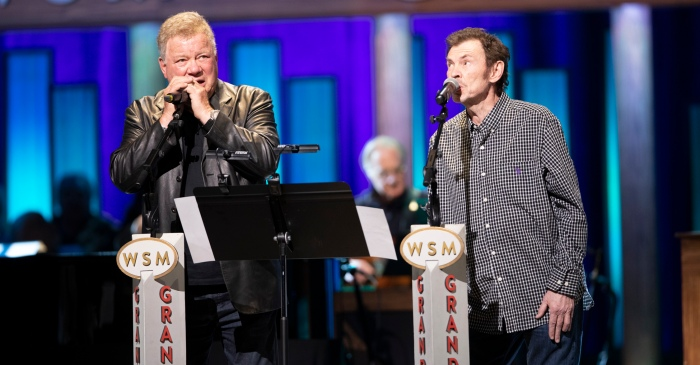 Actor William Shatner Debuts Country Song at Grand Ole Opry