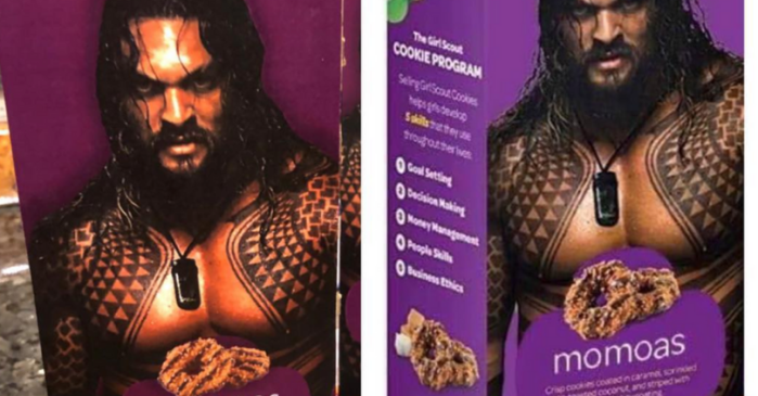 Girl Scouts Put Shirtless Jason Momoa on Samoa Boxes, Call Them Momoa Samoas