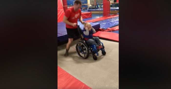 Heartwarming Viral Video Shows 4-Year-Old In Wheelchair Bouncing on a Trampoline