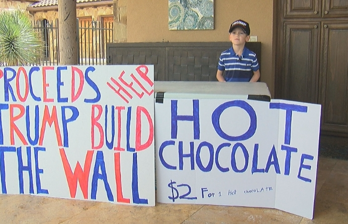 7-Year-Old Boy Raises $25,000 to Support Trump's Border Wall