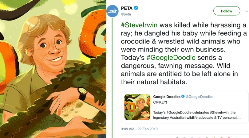 PETA Receives Harsh Backlash After Criticizing Steve Irwin For 'Harassing Animals'