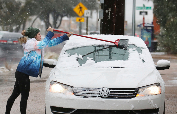 Arizona — Yeah, Arizona — Got Pounded with Snow Over the Weekend and Texas is Next