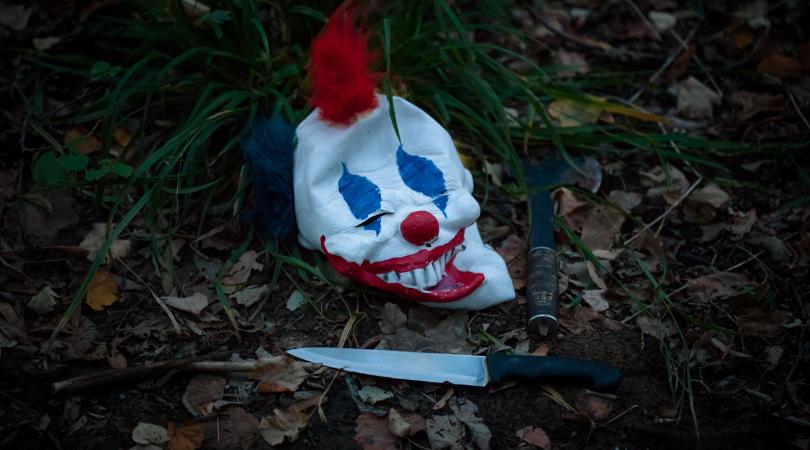 Texas Grandma Clown Mask Scooter