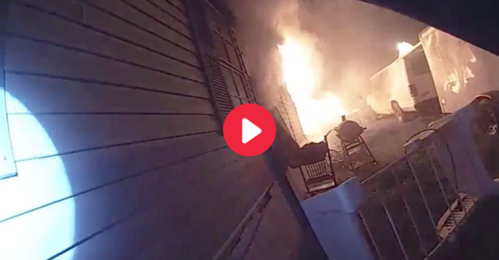 Body Cam Footage Shows Heroic Officer's Intense Rescue of Grandma From Burning Home
