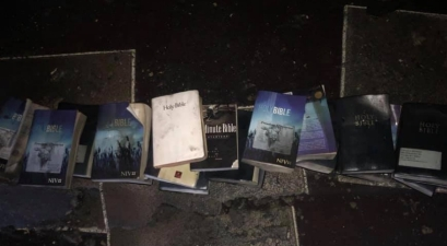 Was It A Miracle? Devastating Fire Burns Down Church, Crosses and Bibles Found Untouched