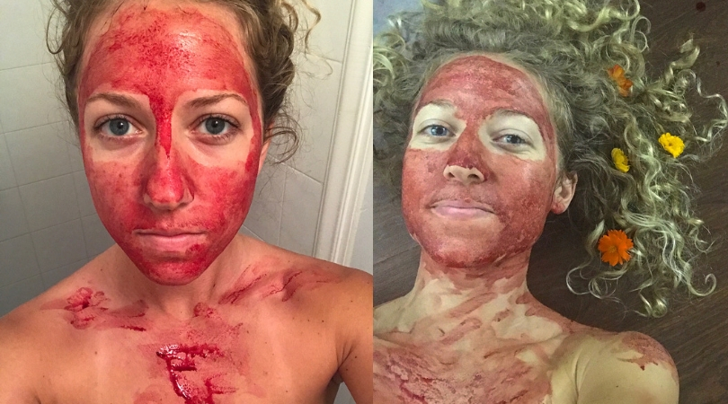 "Women Smears Period Blood on Her Face To Show They Are ""Beautiful and Powerful"""