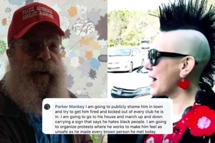 Woman Fired From Job For Wildly Harassing, Threatening Elderly Trump Supporter Wearing MAGA Hat