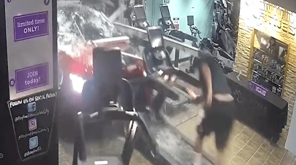 Car Crash Treadmill Anytime Fitness