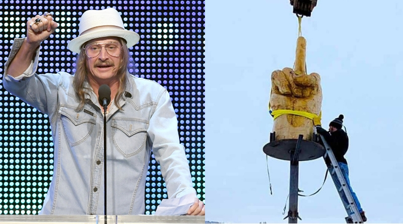 Kid Rock Buys a Giant Middle Finger Statue For His Home In Nashville, Because He's Kid Rock