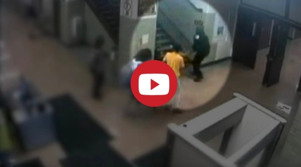 Surveillance Video Shows Cops Brutally Dragging 16-Year-Old Girl Down High School Stairs