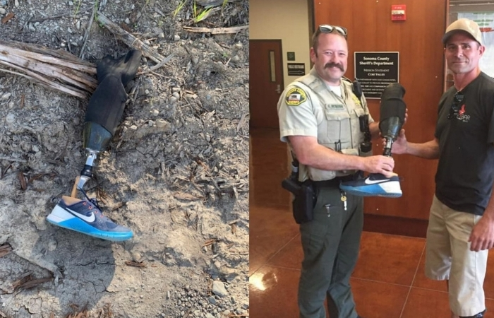 Skydiver Reunited With Prosthetic Leg He Lost During 10,000 Ft. Jump