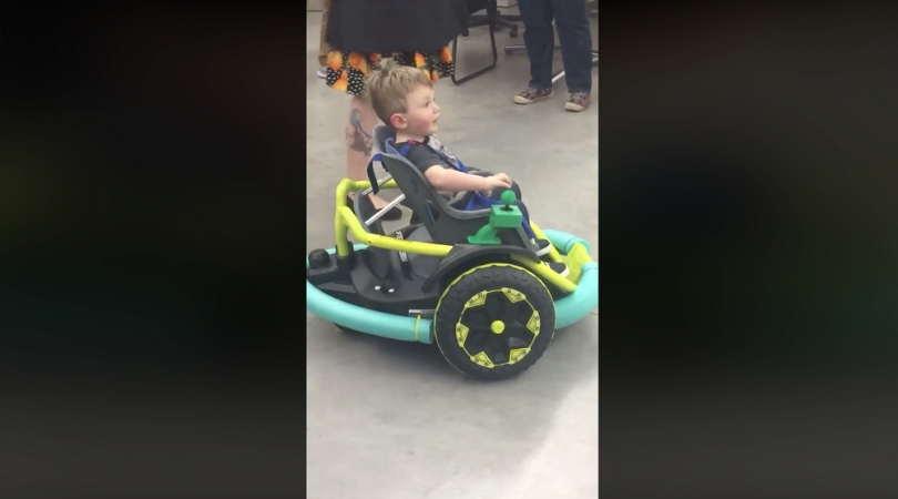 High School Students Built Power Wheelchair For 2-Year-Old Boy After Parent's Couldn't Afford One