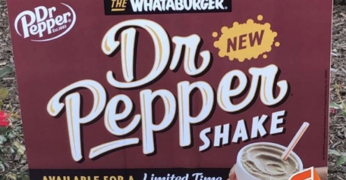 Whataburger's Dr Pepper Shake is Back, So Bring on the Brain Freeze