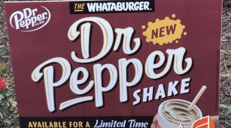 Whataburger Is Now Selling A Dr Pepper Shake, So Bring on The Brain Freeze!