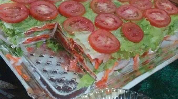 Some Psycho Invented Salad Lasagna and it Looks Awful
