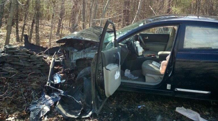 Woman Car Crash Spider