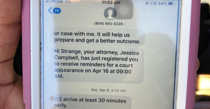 'C u in Court': Text Messages Now Remind Defendants to Show Up