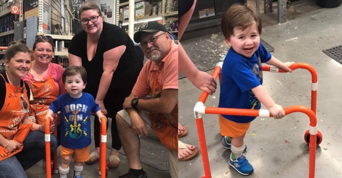 Home Depot Employees Build Walker for 2-Year-Old With Hypotonia