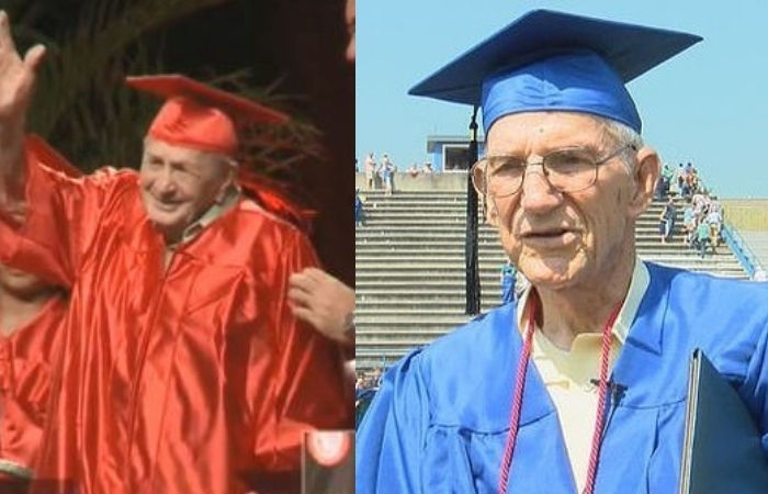 World War II Veteran, 95, and Korean War Veteran, 85, Graduate From High School