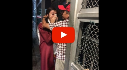 Heartwarming Video Shows Graduate Surprising Deported Father on U.S.-Mexico Bridge
