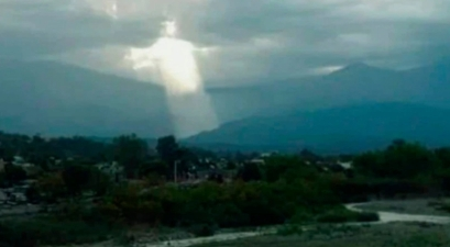 Woman Captures Image Resembling Jesus Christ Through The Clouds