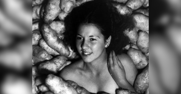 Naked Miss Idaho 1935 with Potatoes: What's Really Going on Here
