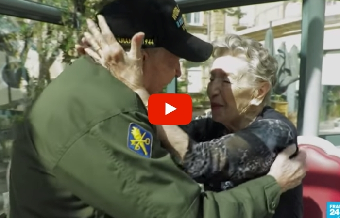 WWII Veteran Reunites With French Woman He Fell in Love With 75 Years Ago