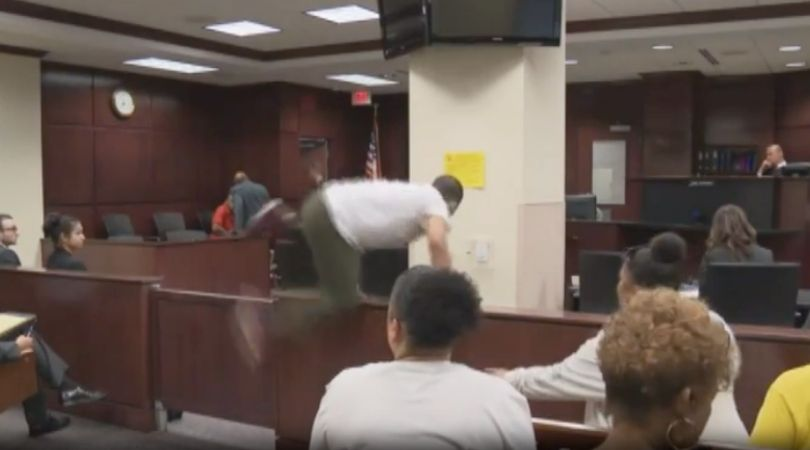 Son of Murdered Woman Attacks His Mom's Murderer in Court