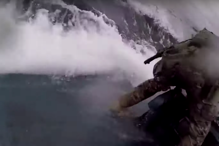 Insane Video Shows Coast Guardsman Jumping onto Drug Cartel Submarine in Middle of Ocean