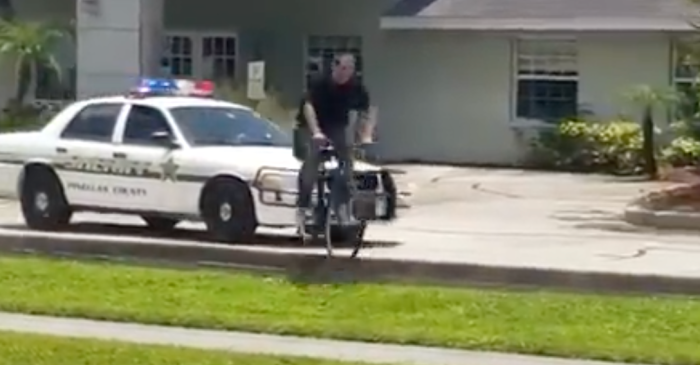 Man Tries to Escape Cops on Bike, Faceplants Hard, Gets Tasered