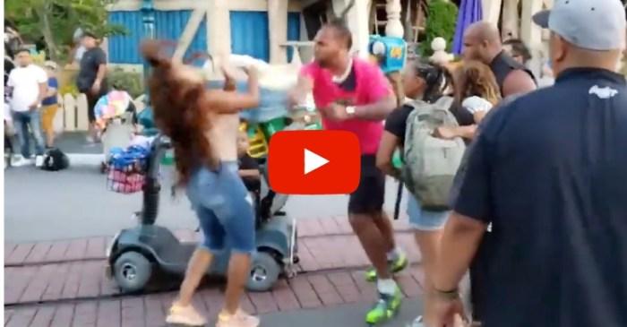 Stunningly Violent Brawl at Disneyland Between Family Caught on Video