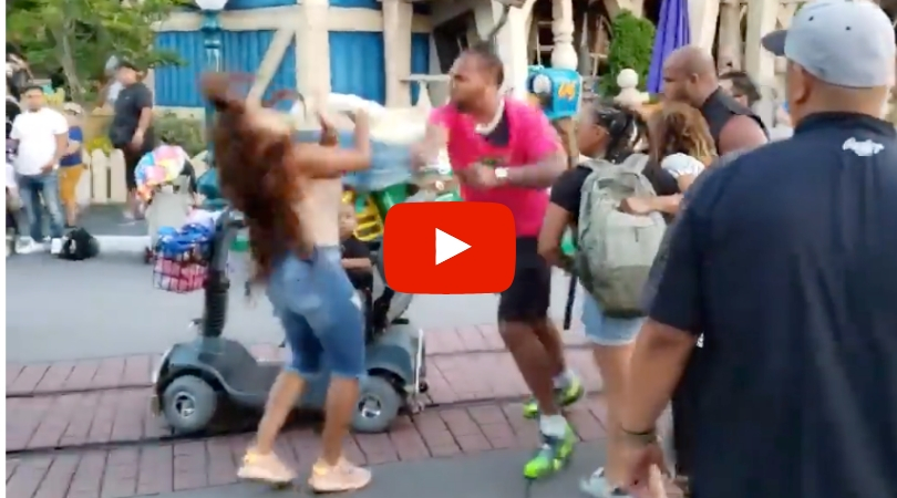 Stunningly Violent Brawl at Disneyland Between Family Caught on Video