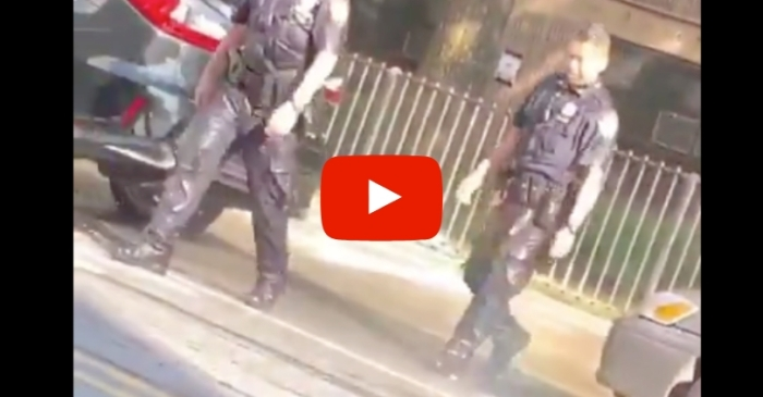 Video Shows NYPD Officers Drenched With Buckets of Water by Civilians