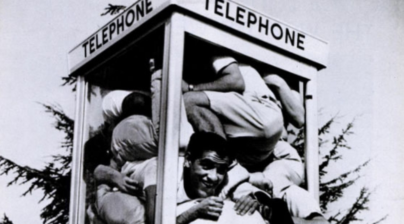 Telephone Booth Stuffing: An Extreme Fad That Took The 1950s by Storm