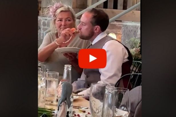 Groom Gets So Drunk at Wedding His New Mother-In-Law Had to Feed Him