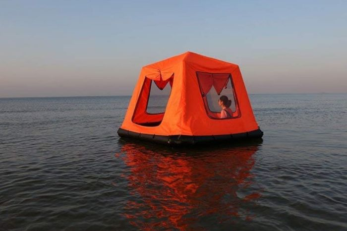 This Floating Tent Allows You To Camp on Water!