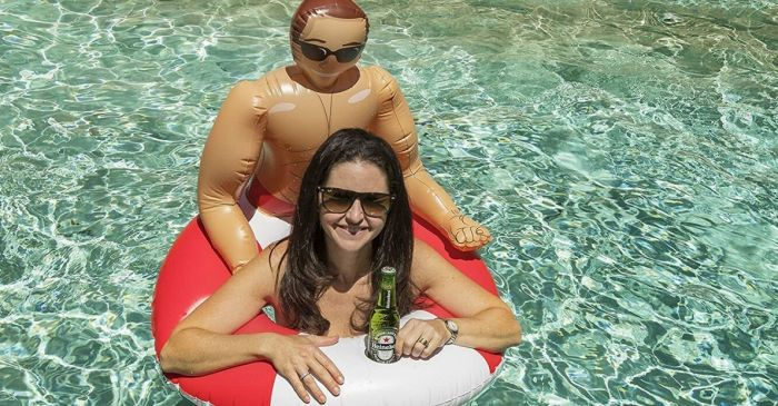 This Inflatable Hunk Pool Float is the Perfect Summer Fling