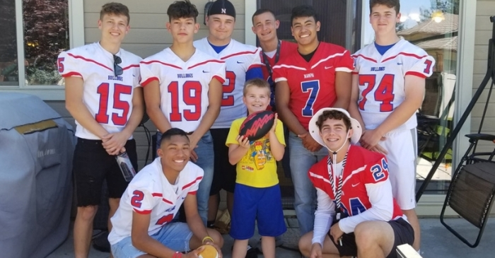 9-Year-Old Surprised by Football Team at Birthday Party After Only 1 RSVP