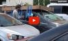Dumb Driver Tapes Large Cardboard Box To Roof of His Car, Because That Will TOTALLY Work